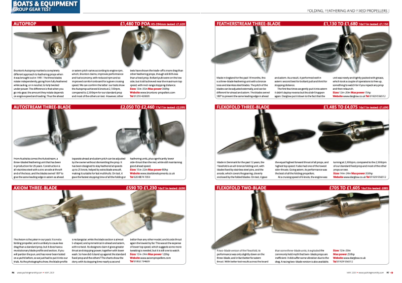 The Ultimate Propeller Test by Yachting Monthly