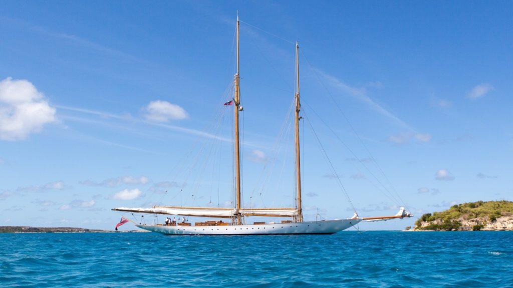 schooner elena at anchor