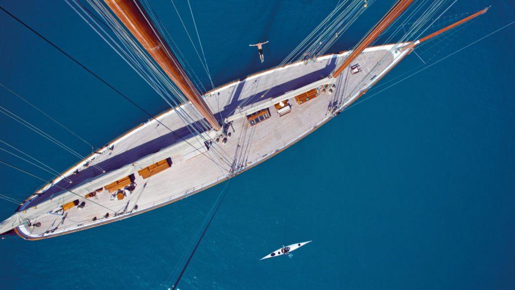 schooner elena from above