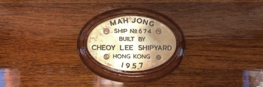 mah jong 1957 plaque