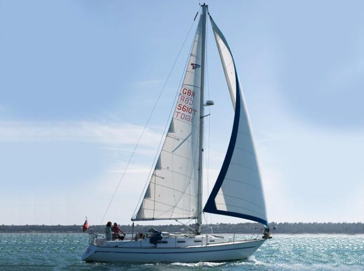 Sadler 34 sailing yacht
